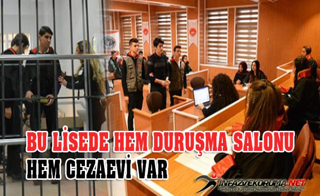 Bursa'da Lisede Mahkeme Kuruldu, Suçlular Cezaevine Konuldu