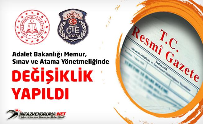 Adalet Bakanlığı Memur, Sınav ve Atama Yönetmeliğinde Değişiklik Yapıldı