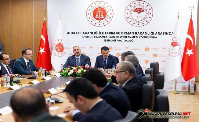 Adalet Bakanlığı ile Tarım ve Orman Bakanlığı Arasında İşbirliği Protokolü İmzalandı