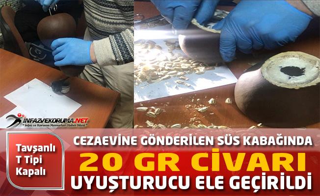 Cezaevine Gönderilen Süs Kabağında Uyuşturucu Ele Geçirildi