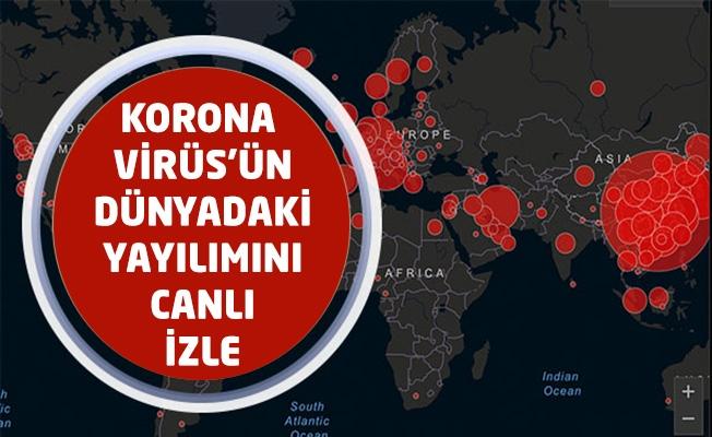 Korona Virüs'ün Dünyadaki Yayılımını Canlı İzle