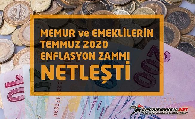 Memur ve Emeklilerin Temmuz 2020 Enflasyon Zammı Netleşti