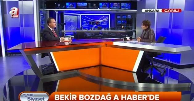 Bekir BOZDAĞ A Haber Tvde %100 Siyaset Proğramına Konuk Oldu...