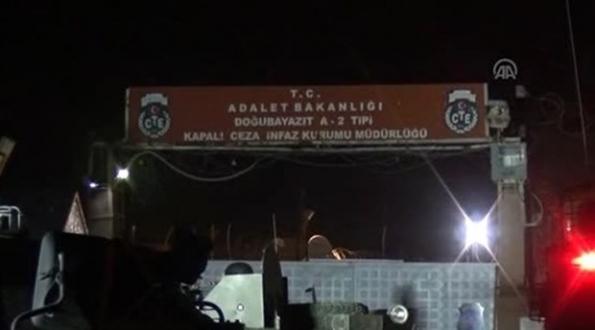 Ağrı Doğubayazıt A2 Tipi Cezaevi'ne El Yapımı Patlayıcı Atıldı...