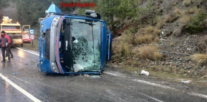 Antalyada Cezaevi Nakil Aracı Devrildi: 11 Yaralı...