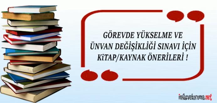CTE Görevde Yükselme, Ünvan Değ. Sınavı İçin Kitap / Kaynak Önerileri...