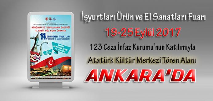 İşyurtları Kurumunca 2017 Yılının Altı'ncı Fuarı Ankara'da Yapılacaktır.