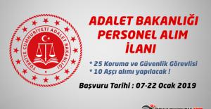 Adalet Bakanlığına 35 Personel Alınacak !