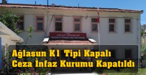 Ağlasun K1 Tipi Kapalı Ceza İnfaz Kurumu Kapatıldı