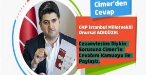 CHP İstanbul Milletvekili Onursal ADIGÜZEL'in Cezaevlerine İlişkin Sorusuna Cimer'in Cevabı