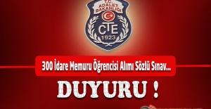 CTE 2019 Yılı 300 İdare Memuru Öğrencisi...
