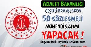 Adalet Bakanlığı Çeşitli Branşlarda 50 Sözleşmeli Mühendis Alımı Yapacak