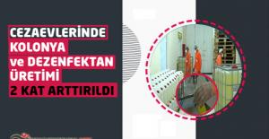 Cezaevlerinde Kolonya ve Dezenfektan Üretimi 2 Kat Arttırıldı
