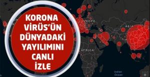 Korona Virüs#039;ün Dünyadaki Yayılımını...