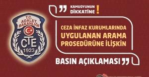 Ceza İnfaz Kurumlarında Uygulanan Arama Prosedürüne İlişkin Basın Açıklaması