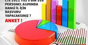 CTE 2021 Yılı 5 Bin 358 Personel Alımında Hangi İl İçin Başvuru Yapacaksınız ? Anket
