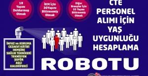 CTE Personel Alımı ( İnfaz ve Koruma Memurluğu ) Sınavı İçin Yaş Hesaplama Robotu