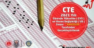 """CTE 2021 Yılı Görevde Yükselme ( GYS ) ve Unvan Değişikliği ( UD ) Sınavı """"ANKÜSEM """" Tarafından Gerçekleştirilecek"""