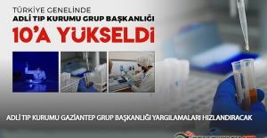 Türkiye Genelinde Adli Tıp Kurumu Grup Başkanlığı 10'a Yükseldi