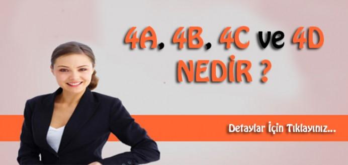 4/A, 4/B, 4/C ve 4/D Nedir?