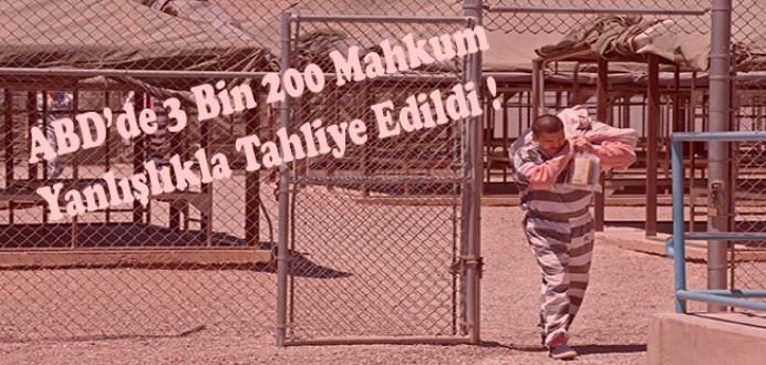 ABD'de 3 bin 200 Mahkûm Yanlışlıkla Erken Tahliye Edildi...