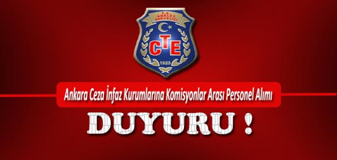 Ankara Ceza İnfaz Kurumlarına Komisyonlar Arası Personel Alımı !