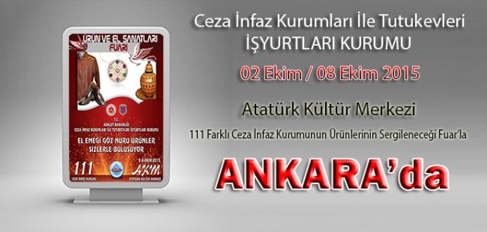 Ceza İnfaz Kurumları, Tutukevleri İşyurtları Fuarı ile Ankara'da !