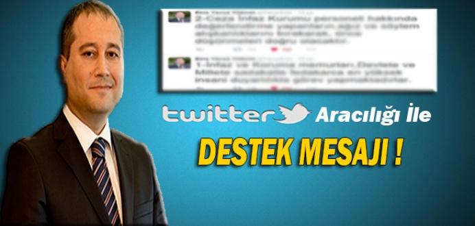 Sayın Enis Yavuz Yıldırım'ın Twitter'dan Paylaştığı Destek Mesajı !