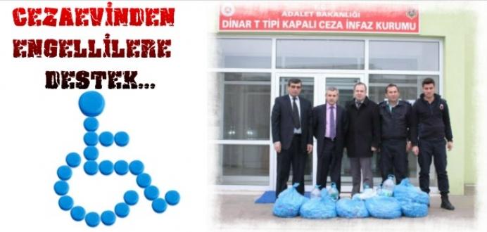 Dinar T Tipi Cezaevinden Engellilere Destek Kampanyası...