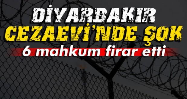 Diyarbakır D Tipi Kapalı Cezaevinden 6 Pkk'lı Mahkum Firar Etti !
