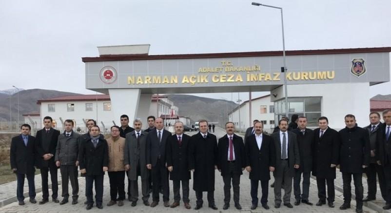 Genel Müdürlük Heyeti, Narman Açık Ceza İnfaz Kurumu ve Hüseyin Turgut Eğitim Merkezini Ziyaret Etti