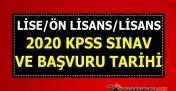 ÖSYM açıkladı: KPSS başvurusu 2020 ne zaman başlayacak? KPSS sınavı ne zaman, hangi tarihte?