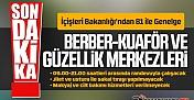 Berber ve Kuaförler İçin İçişleri Bakanlığından 81 İle Genelge