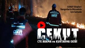Ceza ve Tevkifevleri Genel Müdürlüğü Arama Kurtarma ( CEKUT ) Ekipleri Yangınlarla Mücadele İçin Sahada